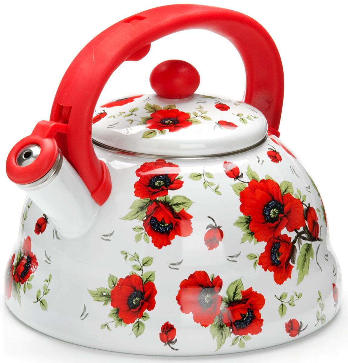 Чайник Mayer & Boch Цветы, со свистком, 3 л. 2625326253
