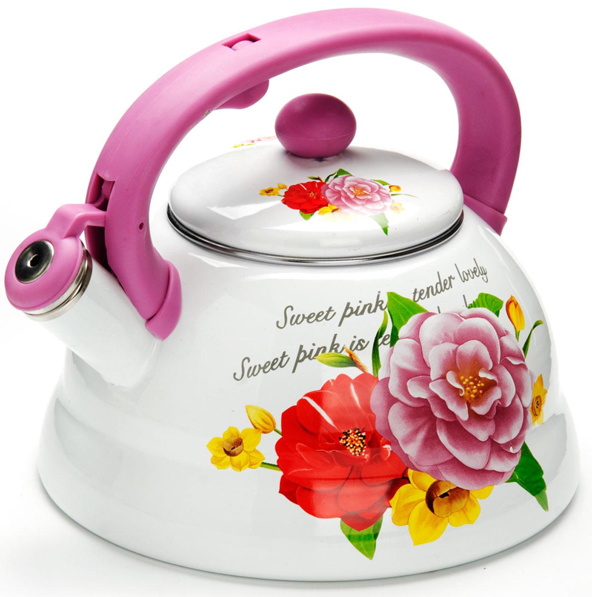 Чайник Mayer & Boch Розы, со свистком, 3 л. 2625526255
