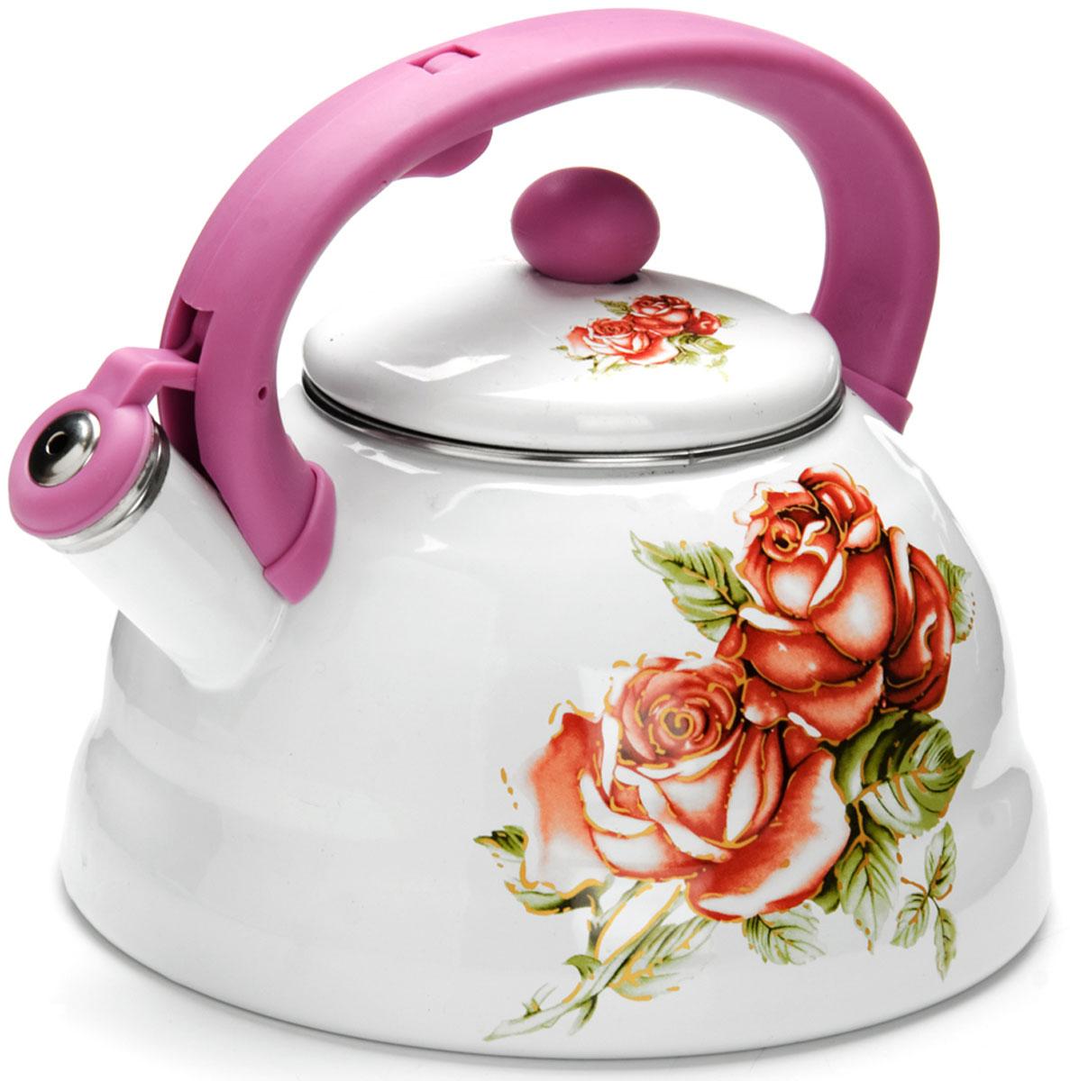 Чайник Mayer & Boch Розы, со свистком, 3 л. 2625826258
