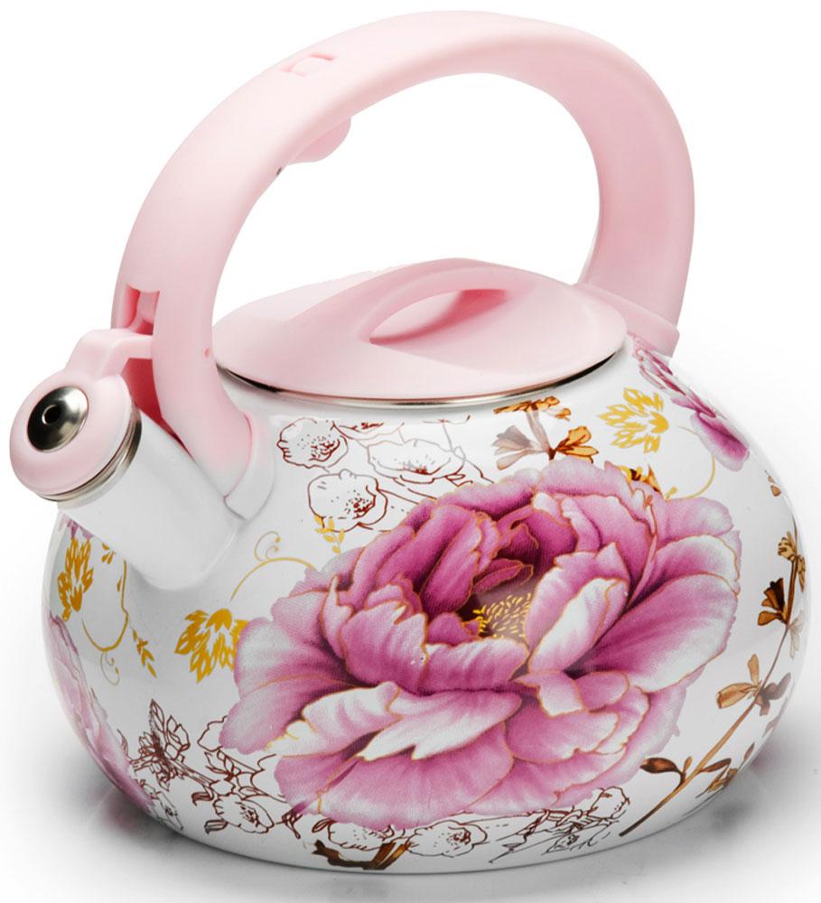 Чайник Mayer & Boch Цветы, со свистком, 3 л. 2648526485