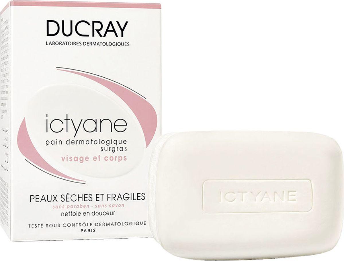 Ducray Мягкое мыло Ictyane для сухой кожи 200грC18608Насыщенное дерматологическое мыло ICTYANE (Иктиан) не содержит омыляющих компонентов. В состав мыла входят очищающие вещества с высокой переносимостью, разработанные специально для сухой и хрупкой кожи. Активные компоненты, ПЕТРОЛАТ и ГЛИЦЕРИН, входящие в состав мыла быстро смягчают и восстанавливают сухую истонченную кожу, возвращая коже ощущение комфорта. Содержит до 30% увлажняющих веществ.