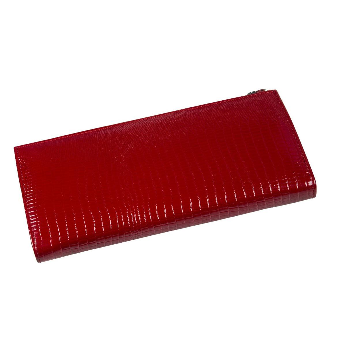 Портмоне женское Befler Ящерица, цвет: красный. PJ.159.-3PJ.159.-3Портмоне Befler Ящерица выполнено из натуральной лаковой кожи и оформлено тисненым рисунком. Закрывается на молнию. Внутри расположено 3 отделения для купюр, скрытый карман, отделение для мелочи на молнии, накладной карман из кожи для кредитных карт.