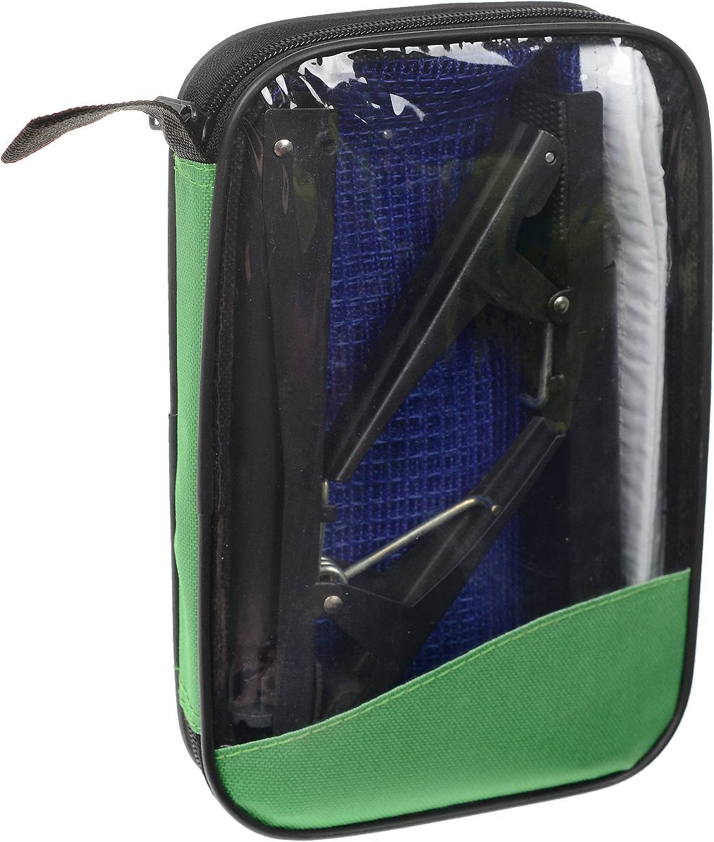 Сетка для настольного тенниса Start Up, с креплениями, цвет: синий, белый, черный, длина 185 смW203S_синийСетка для настольного тенниса Start Up выполнена из прочного нейлона. В комплекте два металлических крепления. Натяжение сетки можно регулировать. Ширина сетки: 14 см.