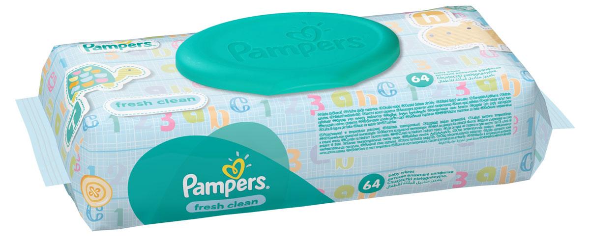 Pampers Детские влажные салфетки Baby Fresh Clean 64 шт81484111Каждый малыш нуждается в нежном очищении, именно поэтому влажные салфетки Pampers Fresh Clean с дополнительным увлажнением позволяют бережно заботиться о детской коже. Благодаря своей уникальной мягкой текстуре SoftGrip, они очищают кожу малыша еще нежнее, чем раньше, поддерживая естественный уровень pH, облегчая мамам смену подгузника. Не бойтесь сюрпризов с Pampers Fresh Clean! Преимущества: Мягкие и прочные для нежного очищения; уникальная мягкая текстура SortGrip; поддерживают естественный уровень pH; дерматологически протестированы; с новым освежающим ароматом. Товар сертифицирован.