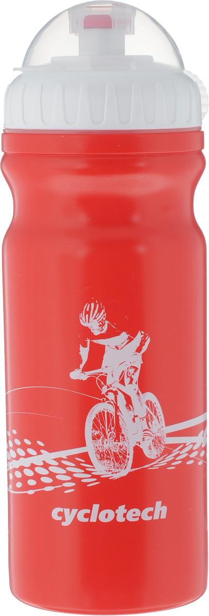 Фляга велосипедная Cyclotech, цвет: красный, 700 млCBOT-1RВелосипедная фляга Cyclotech изготовлена из высококачественного полиэтилена высокого давления. Изделие без труда устанавливается на велосипед (держатель для фляги приобретается отдельно). Благодаря клапану с сильной струей можно делать большие глотки, а за счет большой винтовой крышки флягу легко наполнить водой. Высота фляги: 23 см.