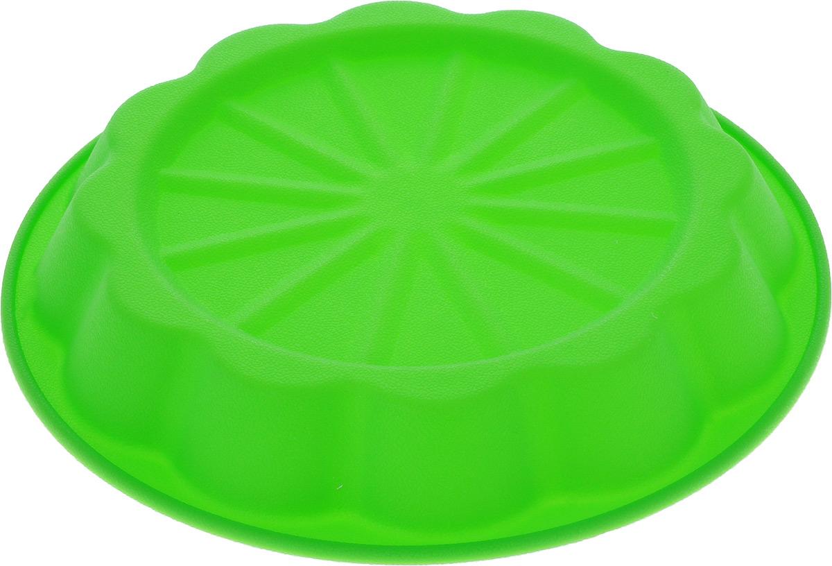 Форма для выпечки Marmiton Апельсин, силиконовая, цвет: зеленый, диаметр 24,5 см16031_зеленыйФорма Marmiton Апельсин выполнена из силикона, благодаря этому выпечку вынимать легко и просто. Материал устойчив к фруктовым кислотам, может быть использован в духовках и микроволновых печах. Такая форма идеальна для приготовления разнообразной выпечки, льда, конфет, желе, запеканок, шоколада, пудингов. Изделие выдерживает температуру от -40°С до +240°С. Можно мыть и сушить в посудомоечной машине. Диаметр (по верхнему краю): 24,5 см. Диаметр дна: 19 см. Высота стенки: 3,5 см.