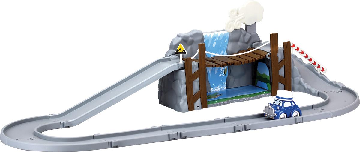 Robocar Poli Игрушечный трек Обрушающийся мост с металлической машинкой Масти