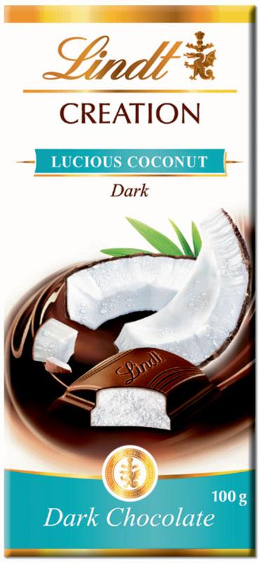 Lindt Creation Кокос темный шоколад, 100 г3046920004909Восхитительный темный шоколад c кокосовой начинкой.
