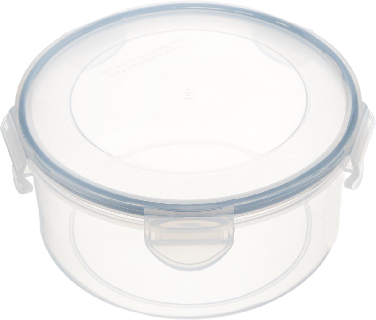Контейнер Tescoma Freshbox, круглый, 1,5 л892114Круглый контейнер Tescoma Freshbox изготовлен из высококачественного пластика. Изделие идеально подходит не только для хранения, но и для транспортировки пищи. Контейнер имеет крышку, которая плотно закрывается на 5 защелок и оснащена специальной силиконовой прослойкой. Изделие подходит для домашнего использования, для пикников, поездок, отдыха на природе, его можно взять с собой на работу или учебу. Можно использовать в СВЧ-печах, холодильниках и морозильных камерах. Можно мыть в посудомоечной машине. Диаметр контейнера (без учета крышки): 17 см. Высота контейнера (без учета крышки): 8 см.