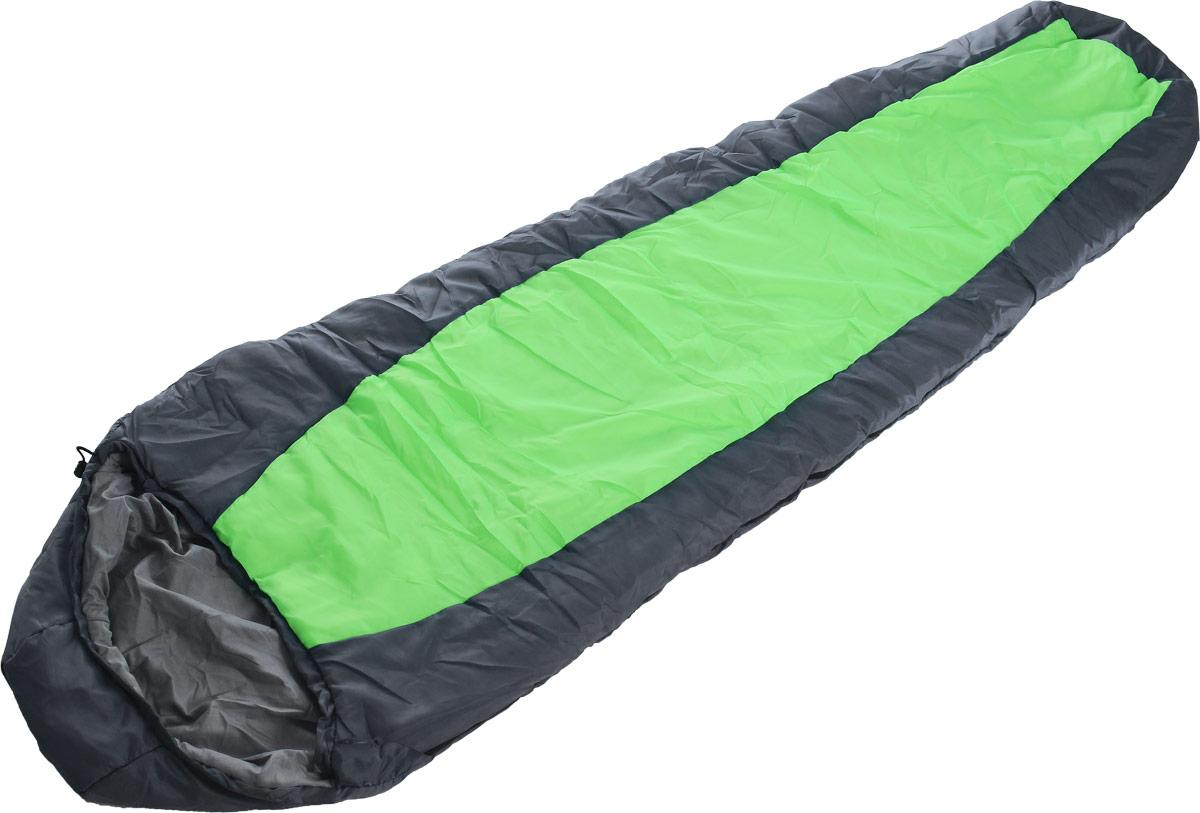 Спальный мешок Чайка Tourist 300, цвет: серый, зеленый, правосторонняя молния, 230 х 80 смTOU300_серыйСпальный мешок-кокон предназначен для людей увлекающихся туризмом и активным отдыхом. Глубокий утягивающий капюшон позволит максимально сохранить тепло. Практичная модель для теплого сезона. Комплектуется компактным чехлом. Рекомендуемый температурный режим, С°: -5/+10. Наружный материал: Taffeta 190 (100% полиэстер) - материал по прочности и химической стойкости несколько уступает нейлоновой ткани, но превосходит ее по термо- и светостойкости. Наружный материал имеет водоотталкивающую обработку. Внутренний материал: - бязь (100% хлопок) / эпонж (100% полиэстер). Наполнитель: термофайбер 300г/м2 (100% полиэстер) - синтетический утеплитель нового поколения с повышенными теплоизолирующими свойствами. Легкий, мягкий, особо теплый, хорошо пропускает воздух, не впитывает влагу.