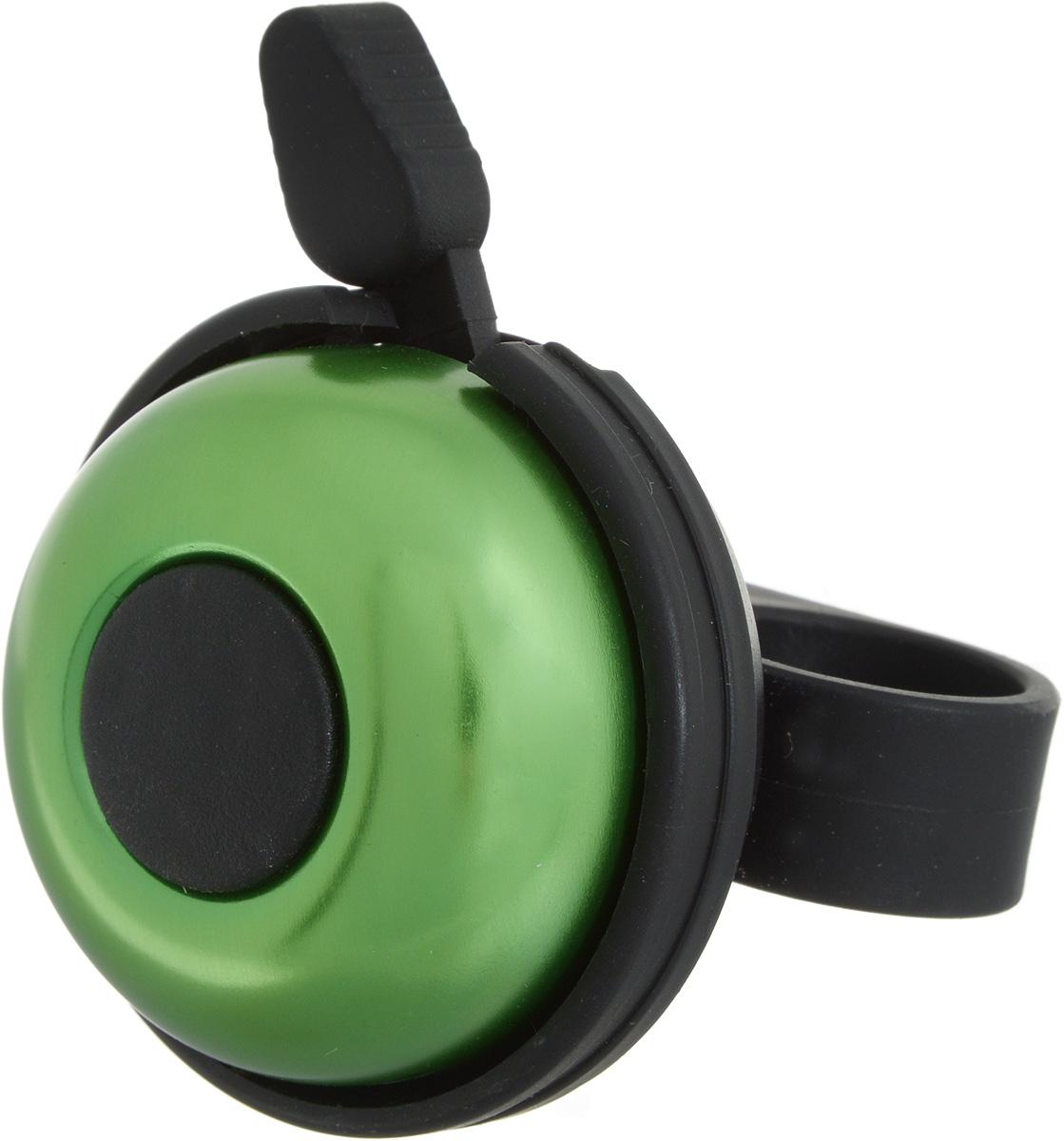 Звонок велосипедный Stern, цвет: зеленыйCR-1GR.Звонок Stern изготовлен из металла и пластика. Изделие крепится на руль велосипеда и позволяет привлечь внимание в опасных ситуациях. Оригинальный звонок сделает вашу езду безопасной. Диаметр звонка: 5 см.