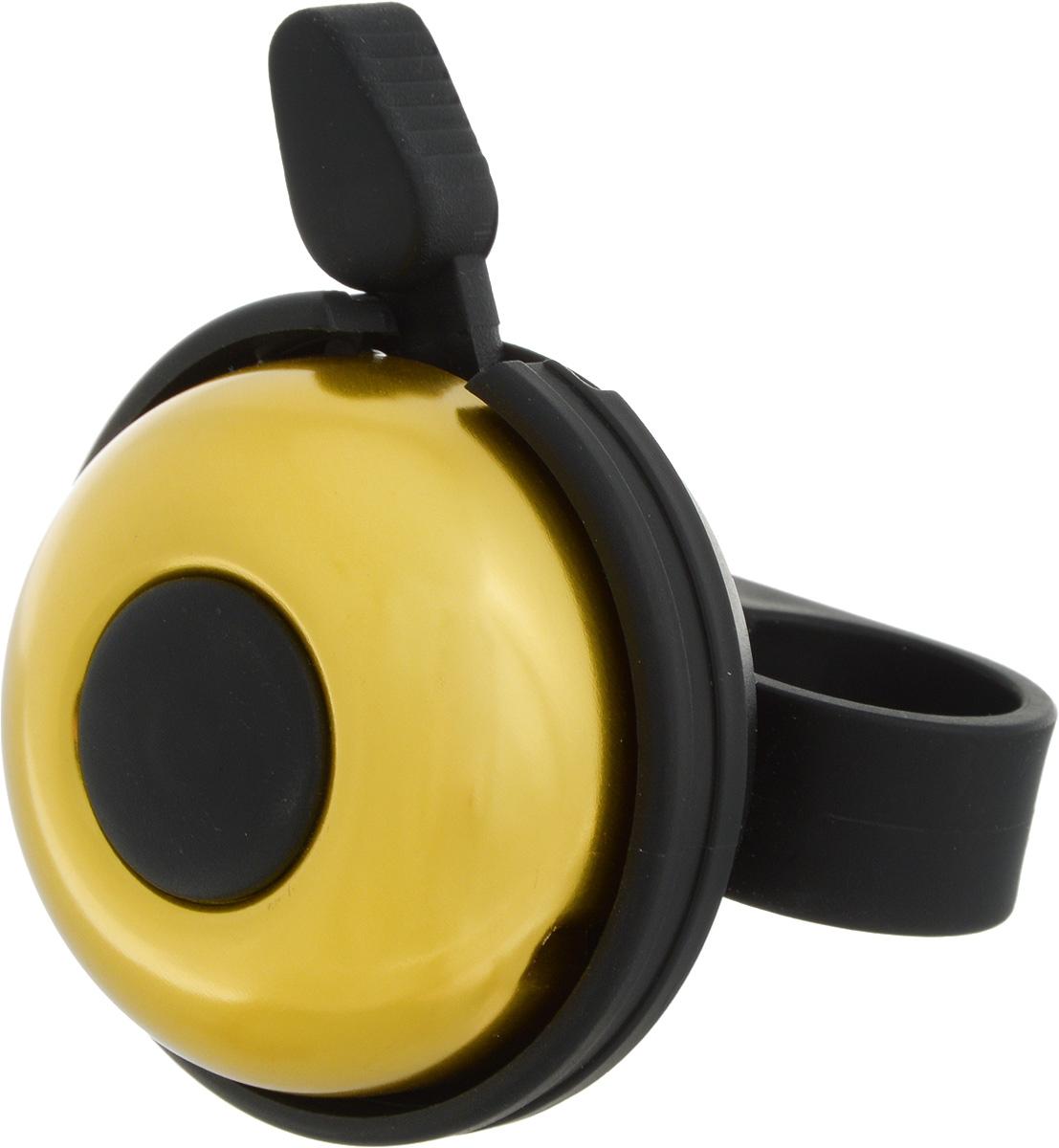 Звонок велосипедный Stern, цвет: золотистыйCR-1Y.Звонок Stern изготовлен из металла и пластика. Изделие крепится на руль велосипеда и позволяет привлечь внимание в опасных ситуациях. Оригинальный звонок сделает вашу езду безопасной. Диаметр звонка: 5 см.
