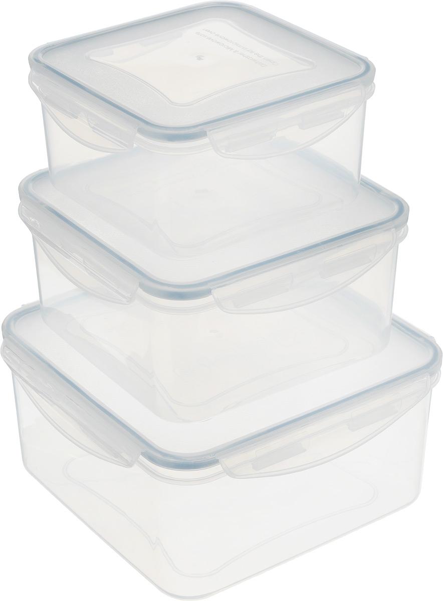 Контейнер Tescoma Freshbox, 3 шт. 892042892042Набор пластиковых контейнеров Tescoma Freshbox подходит для переноски и хранения любых продуктов питания. Благодаря многообразию объемов, вы можете подобрать свой. Изделия абсолютно герметичны, способны выдержать сильные перепады температур. Пластик и силикон, из которых изготовлены контейнеры, переносят экстремальные температурные режимы в диапазоне от -18°C до +110°C. Такие контейнеры оптимально сохраняют вкус, аромат и внешний вид продуктов. Подходят для холодильника, морозильных камер, микроволновой печи и посудомоечной машины. Размер контейнеров (с учетом крышек): 15,5 х 15,5 х 8 см; 17,5 х 17,5 х 9 см; 20,5 х 20,5 х 10 см. Объем контейнеров: 1,2 л; 2 л; 3 л.