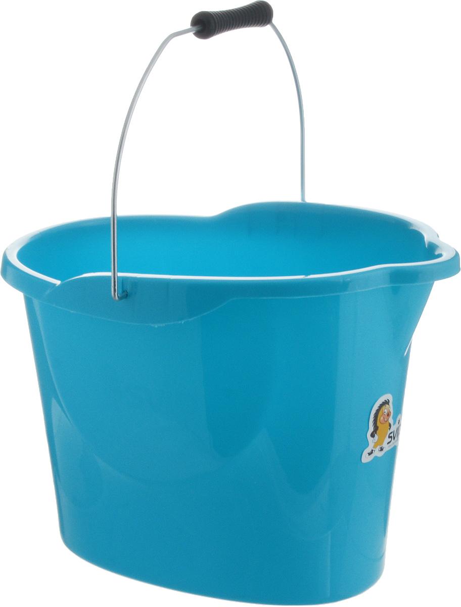 Ведро Svip Ориджинал, цвет: бирюзовый, 12 лSV3958БРЗВедро Svip Ориджинал предназначено для влажной уборки дома. Изделие изготовлено из прочного долговечного пластика. Удобная форма обеспечит комфорт применения. В верхней части ведра находится удобный выступ для выливания воды, а в основании - выемка для подхвата. Изделие оснащено металлической ручкой с удобной пластиковой рукояткой. Размер ведра (по верхнему краю): 38 х 26 см. Высота ведра: 28 см.