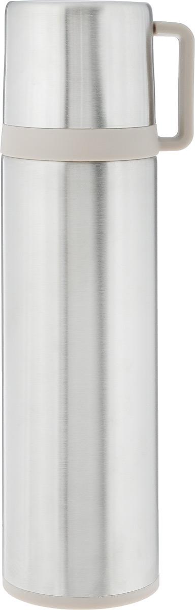 Термос Tescoma Constant, с крышкой-кружкой, цвет: серебристый, 0,5 л. 318572318572Термос Tescoma Constant - это вакуумный термос с двойной колбой из высококачественной нержавеющей стали. Термос сохраняет напитки горячими и холодными на протяжении длительного времени. Оснащен крышкой и пробкой с кнопкой для удобного розлива без снижения температуры. Термос Tescoma Constant прекрасно подходит для дома, офиса и для путешествий. Сохранение температуры в термосе зависит от количества и температуры напитка, от частоты его открывания и от температуры воздуха. Диаметр термоса по верхнему краю: 4,5 см. Диаметр дна: 7 см. Высота термоса с учетом крышки: 25,7 см.