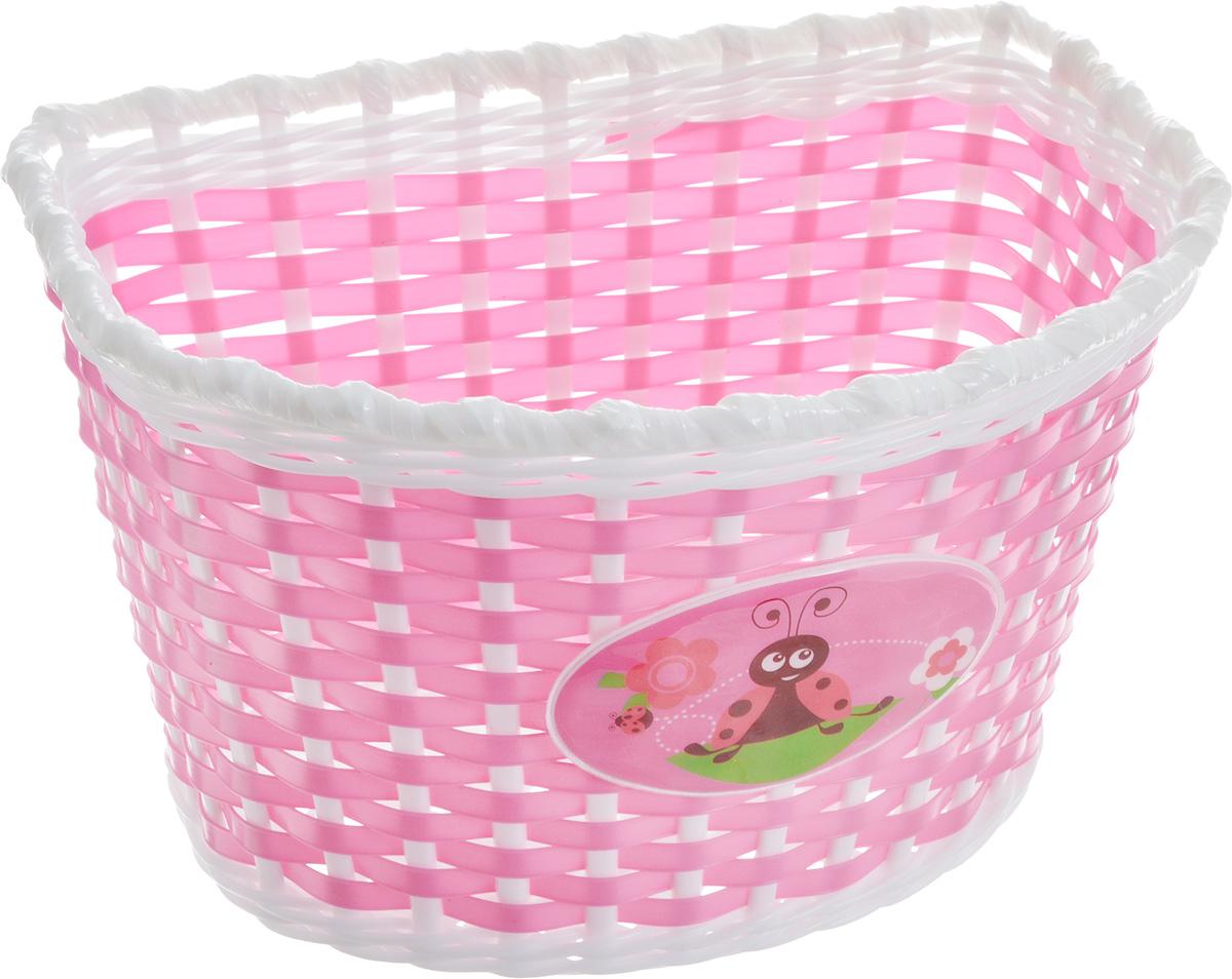 Корзина велосипедная Stern, детская, цвет: розовый, белый, 23,5 х 15,5 х 15,5 смCBBK-1PN.