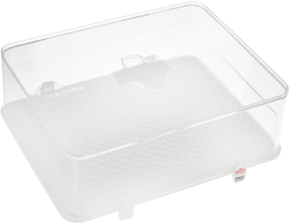 Kонтейнер для холодильника Tescoma Purity, 28 х 22 х 10 см891828Контейнер Tescoma Purity изготовлен из высококачественного медицинского пластика. Отлично подходит для гигиеничного хранения пищи в холодильнике. Контейнер имеет бугристое дно, которое предотвращает прилипание и отсырение продуктов, и высокие края, препятствующие вытекание жидкости. Изделие оснащено крышкой с удобной ручкой и четырьмя замками-защелками. В комплект входят четыре дополнительных замка-защелки. Контейнеры можно ставить друг на друга, что значительно экономит место в холодильнике. Можно мыть в посудомоечной машине.