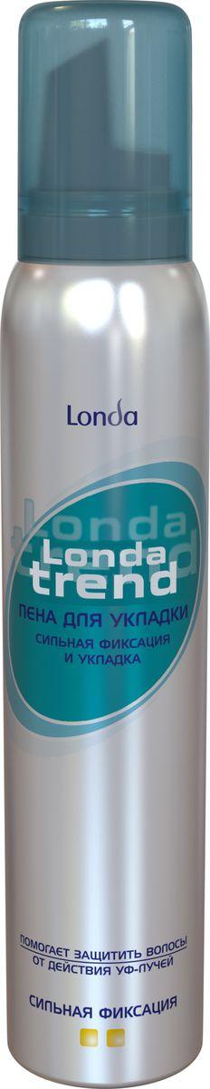 Londatrend Пена для укладки волос Сильная фиксация 200 млLD-81582976Пена для укладки волос Londa Trend сильной фиксации обеспечивает упругую и надежную фиксацию укладки на весь день. Формула пены для укладки Londa Trend позволяет создать желаемую укладку защищая волосы от сухости, ломкости и действия УФ-лучей. Придаст блеск вашим волосам.