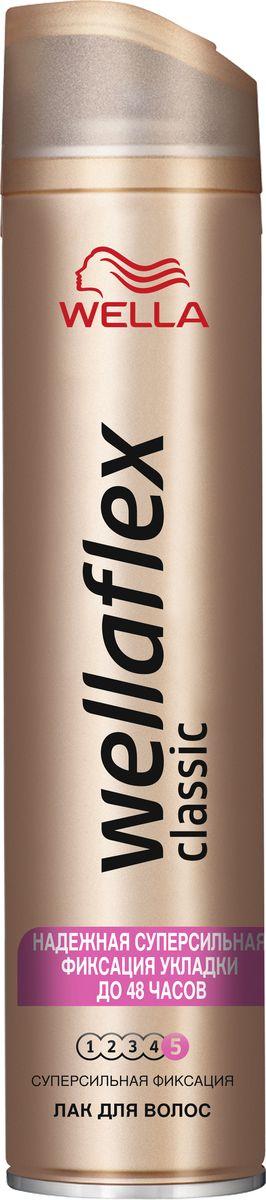 Wellaflex Лак для волос Classic суперсильной фиксации 400 млWF-81583273ЛАК ДЛЯ ВОЛОС WELLAFLEX СУПЕРСИЛЬНОЙ ФИКСАЦИИ с технологией Гибкой Фиксации TM Лак для волос Wellaflex суперсильной фиксации обеспечивает идеальную естественную укладку с улучшенной фиксацией, которая держится до 24 часов. Он быстро высыхает, не пересушивая волосы, легко удаляется при расчесывании и защищает волосы от воздействия солнечных лучей.