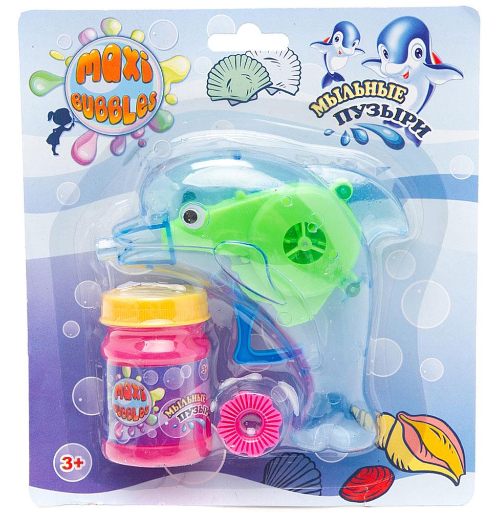 Maxi Bubbles Набор для пускания мыльных пузырей Дельфин цвет синий 45 мл