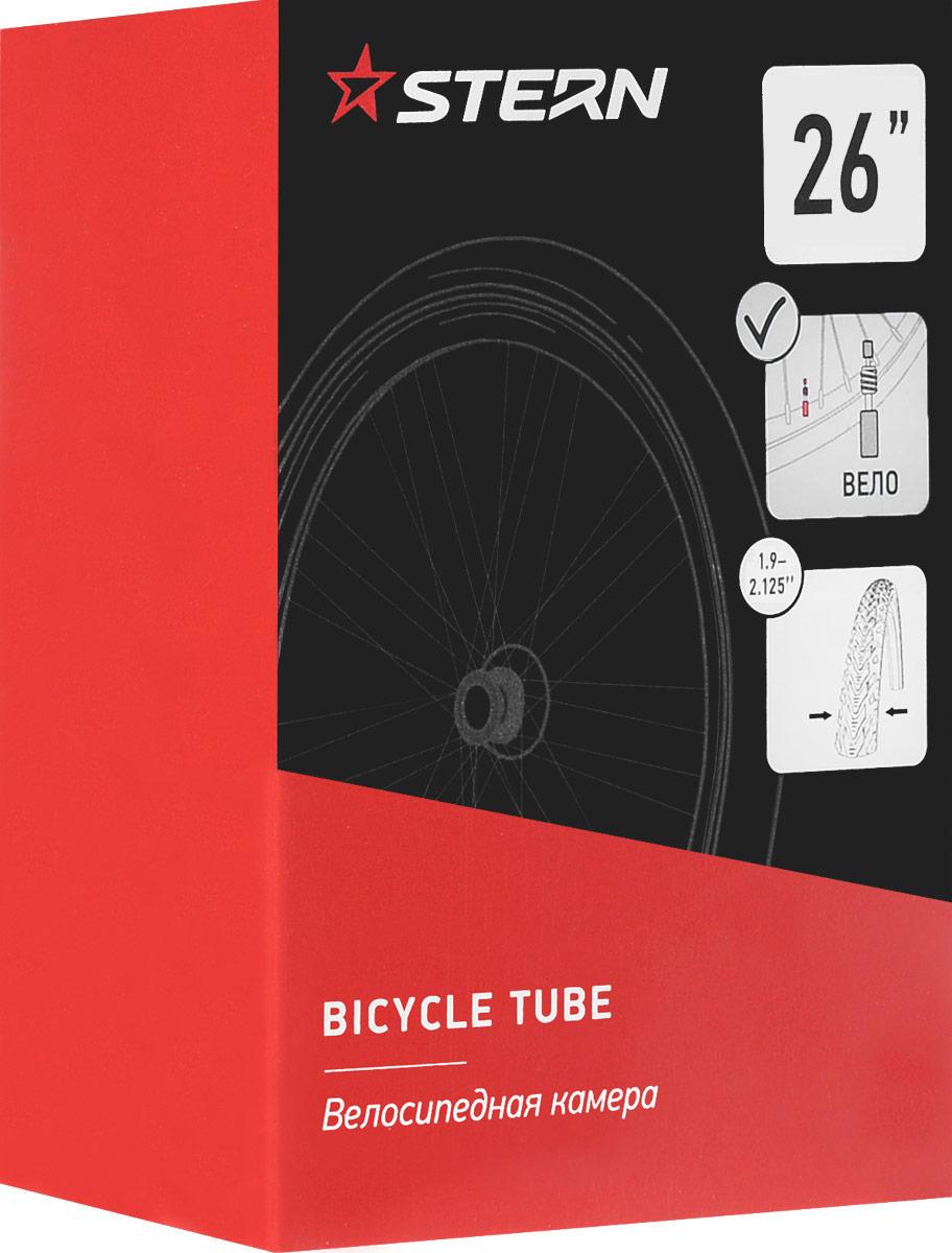 Камера велосипедная Stern, с велониппелем, диаметр колеса 26CTUBE-26P.Камера Stern выполнена из резины и предназначена для колеса шоссейного велосипеда. Камера имеет велосипедный ниппель. Ширина шины: 1,9-2,125. Диаметр колеса: 26.