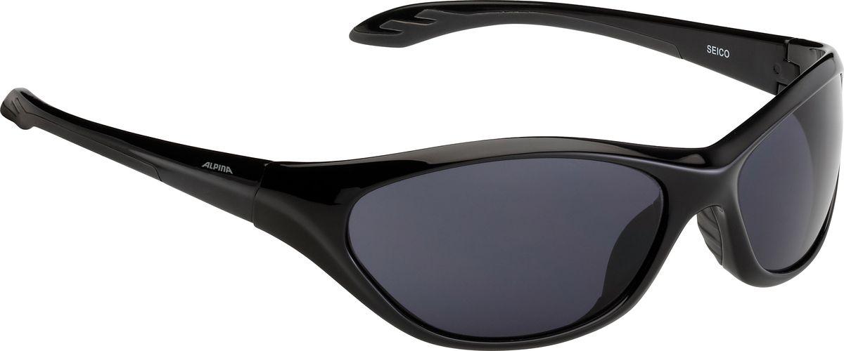 Очки солнцезащитные Alpina Seico, цвет: черный, серый. 84444318444431SEICO выполнена на том же уровне, что и взрослые модели. Линзы имеют ударопрочное керамическое покрытие, устойчивы к царапинам. Идеальная защита от УФ-излучения. Степень защиты: S3.