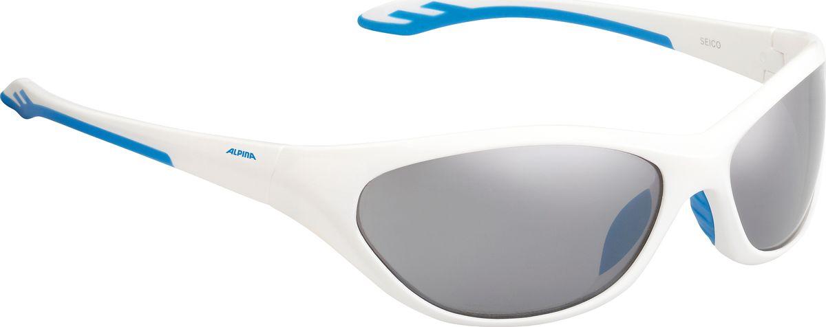Очки солнцезащитные Alpina Seico, цвет: белый. 84443128444312SEICO выполнена на том же уровне, что и взрослые модели. Линзы имеют ударопрочное керамическое покрытие, устойчивы к царапинам. Идеальная защита от УФ-излучения. Степень защиты: S3.