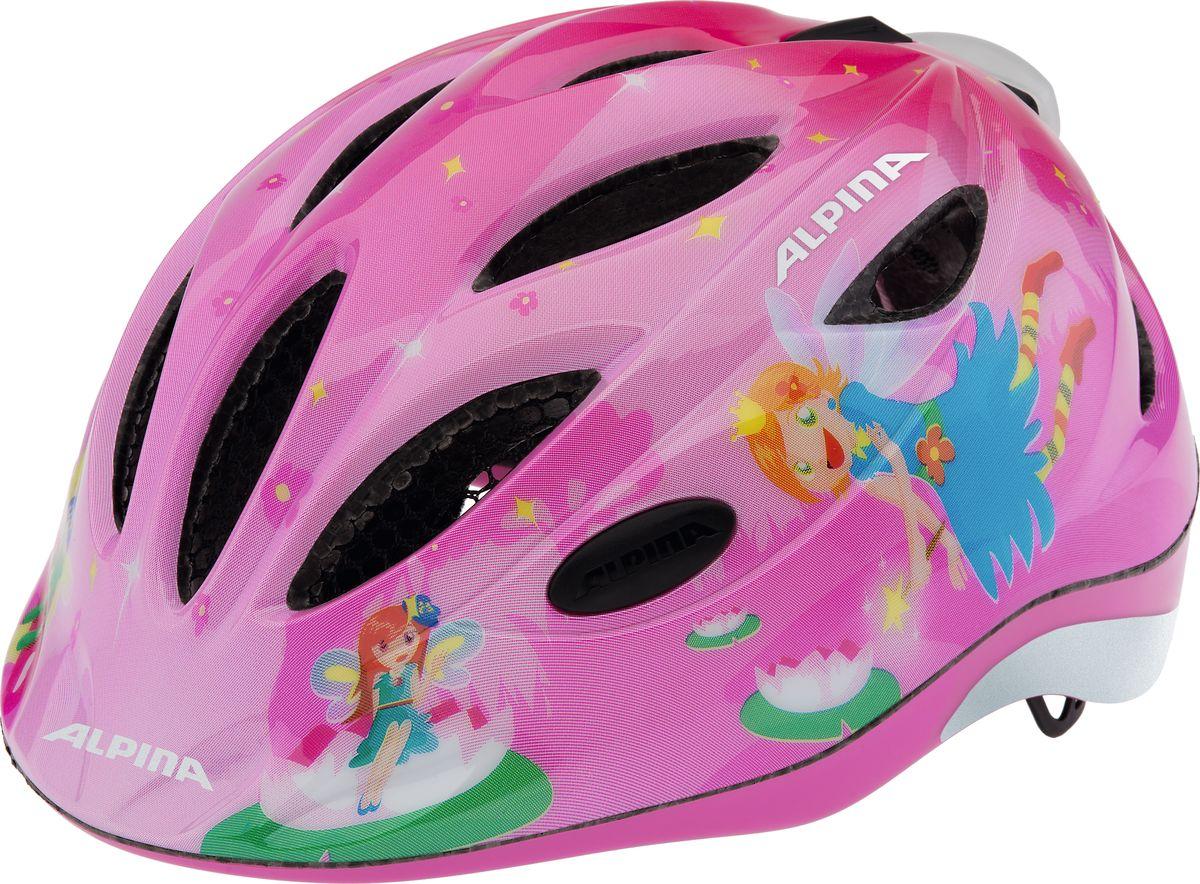 Шлем летний Alpina Gamma 2.0 Flash little princess, цвет: розовый. A9693051. Размер 46/51A9693051Наилучшая защита для маленьких велосипедистов. Размер:46-51, 51-56 см.