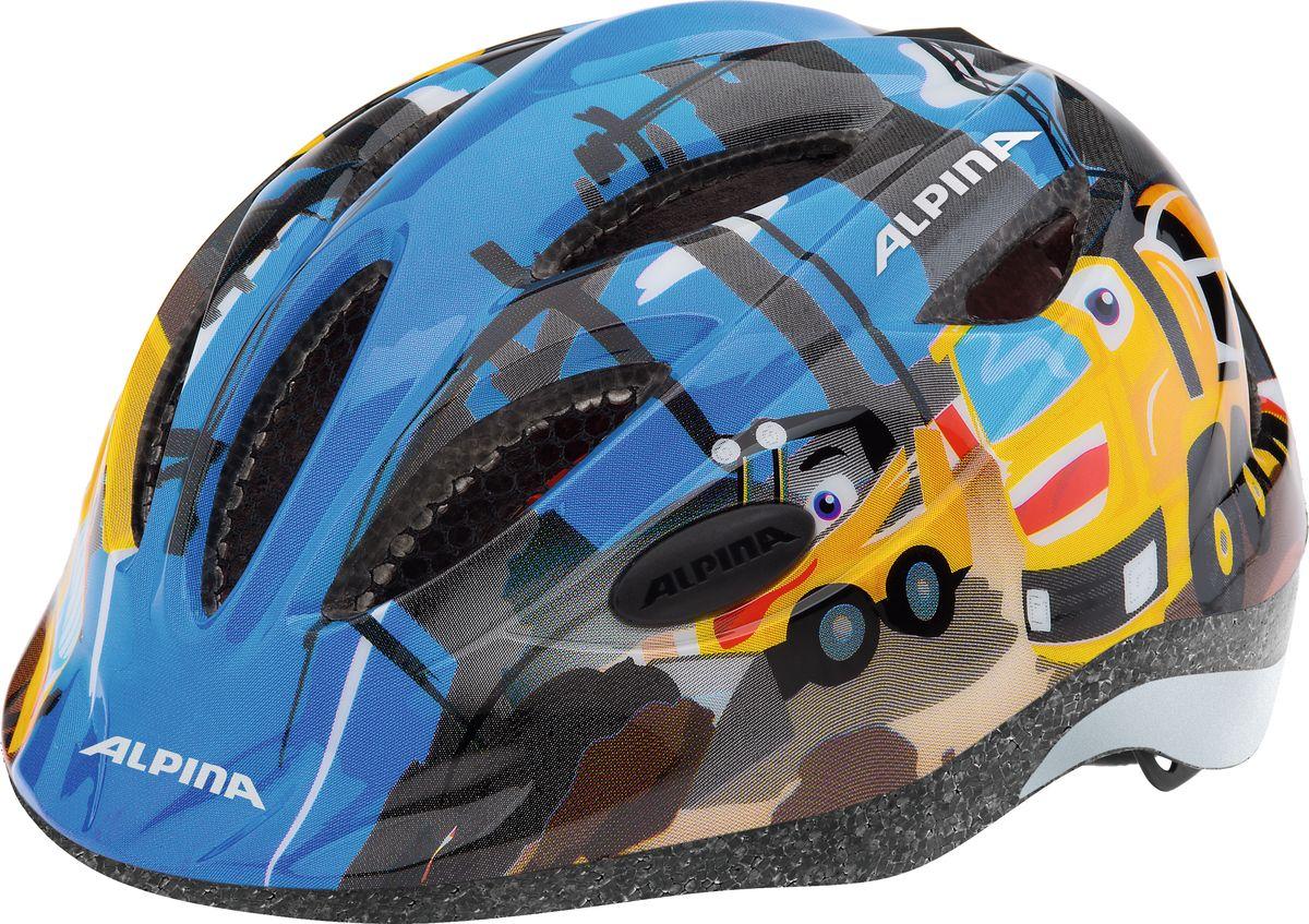 Шлем летний Alpina Gamma 2.0 construction, цвет: синий. A9692035. Размер 51/56A9692035Наилучшая защита для маленьких велосипедистов. Размер:46-51, 51-56 см.