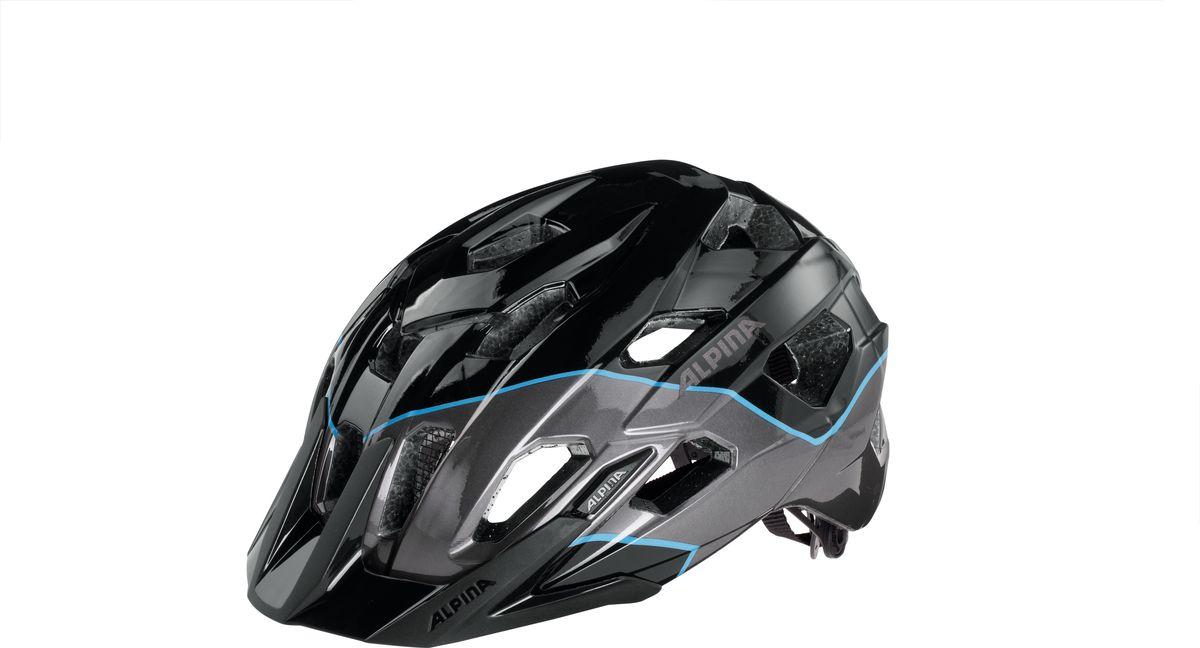 Шлем летний Alpina Yedon, цвет: черный, синий. A9707131. Размер 57/62A9707131Спортивный шлем для велосипедистов. 17 вентиляционных отверстий. Безопасность: Оболочка Inmold Производственный процесс заключается в нагревании до высокой температуры внешней поликарбонатной оболочки и запекании ее на EPS-тело шлема под высоким давлением. Этот процесс создает неразрывную связь по всей поверхности между внутренней и внешней оболочками, благодаря этому шлем получается не только очень легким, но и чрезвычайно стабильным. Hi-EPS Внутренняя оболочка выполнена из Hi-EPS (вспениный полистирол). Этот материал состоит из множества микроскопических воздушных камер, которые эффективно поглощают силу удара. Hi-EPS обеспечивает оптимальную защиту в сочетании с экстратонкими стенками. Ceramic Материал объединяет несколько преимуществ: устойчив к ударам и царапинам, содержит ультрафиолетовые стабилизаторы и антистатичен. Edge Protect Эта технология гарантирует полное отсутствие острых краев, которые могут присутствовать на прессформованых...