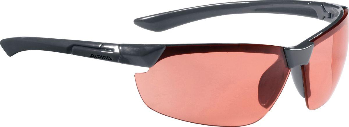 Очки солнцезащитные Alpina Draff, цвет: темно-серый. 85583258558325Очки солнцезащитные Alpina Draff почти не имеющие оправы. Это придает модели чрезвычайно спортивный и изысканный вид. Линзы высокого качества, ударопрочные, керамические, со специальным покрытием против царапин, обеспечивают идеальную защиту от ультрафиолетовых излучений для Ваших глаз. Степень защиты: S3 Optimized airflow - Большие изогнутые линзы-объективы обеспечивают управление воздушными потоками, ветер не попадает в глаза во время гонок а также предотвращает запотевание.