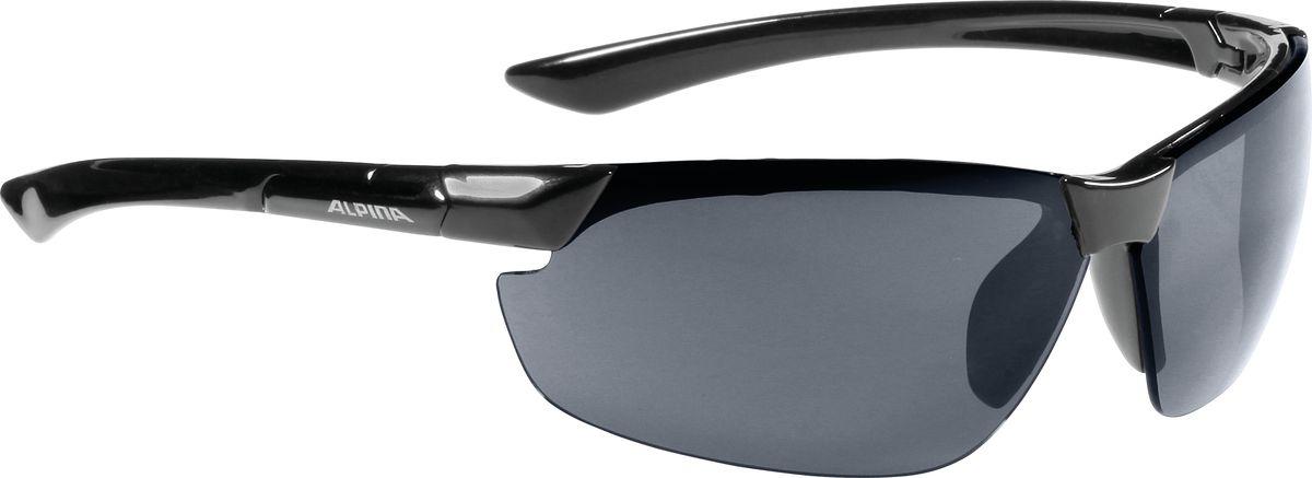Очки солнцезащитные Alpina Draff, цвет: черный. 85583318558331Очки солнцезащитные Alpina Draff почти не имеющие оправы. Это придает модели чрезвычайно спортивный и изысканный вид. Линзы высокого качества, ударопрочные, керамические, со специальным покрытием против царапин, обеспечивают идеальную защиту от ультрафиолетовых излучений для Ваших глаз. Степень защиты: S3 Optimized airflow - Большие изогнутые линзы-объективы обеспечивают управление воздушными потоками, ветер не попадает в глаза во время гонок а также предотвращает запотевание.