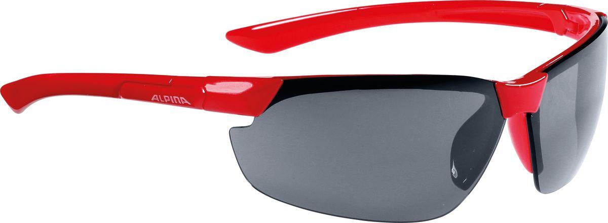 Очки солнцезащитные Alpina Draff, цвет: красный. 85583518558351Очки солнцезащитные Alpina Draff почти не имеющие оправы. Это придает модели чрезвычайно спортивный и изысканный вид. Линзы высокого качества, ударопрочные, керамические, со специальным покрытием против царапин, обеспечивают идеальную защиту от ультрафиолетовых излучений для Ваших глаз. Степень защиты: S3 Optimized airflow - Большие изогнутые линзы-объективы обеспечивают управление воздушными потоками, ветер не попадает в глаза во время гонок а также предотвращает запотевание.