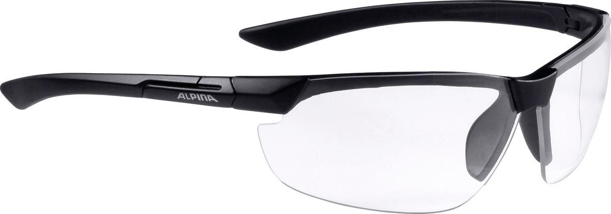 Очки солнцезащитные Alpina Draff, цвет: черный. 85584318558431Очки солнцезащитные Alpina Draff почти не имеющие оправы. Это придает модели чрезвычайно спортивный и изысканный вид. Линзы высокого качества, ударопрочные, керамические, со специальным покрытием против царапин, обеспечивают идеальную защиту от ультрафиолетовых излучений для Ваших глаз. Степень защиты: S3 Optimized airflow - Большие изогнутые линзы-объективы обеспечивают управление воздушными потоками, ветер не попадает в глаза во время гонок а также предотвращает запотевание.