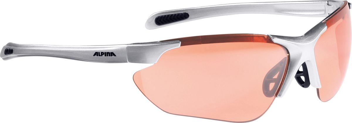Очки солнцезащитные Alpina Jalix, цвет: черный, серебристый. 85603218560321Очки солнцезащитные Alpina Jalix почти не имеющие оправы. Это придает модели чрезвычайно спортивный вид. Тем не менее они не только на вид спортивные, на деле они пройдут любые испытания на прочность в спорте. Прорезиненная гибкая перегородка для носа и силиконовые наконечники на душках обеспечивают надежную фиксацию. А высококачественные керамические линзы обеспечивают защиту от ультрафиолетового излучения. Степень защиты: S3/