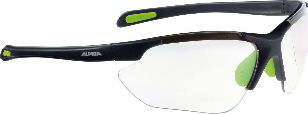 Очки солнцезащитные Alpina Jalix, цвет: зеленый, черный. 85603358560335Очки солнцезащитные Alpina Jalix почти не имеющие оправы. Это придает модели чрезвычайно спортивный вид. Тем не менее они не только на вид спортивные, на деле они пройдут любые испытания на прочность в спорте. Прорезиненная гибкая перегородка для носа и силиконовые наконечники на душках обеспечивают надежную фиксацию. А высококачественные керамические линзы обеспечивают защиту от ультрафиолетового излучения. Степень защиты: S3/