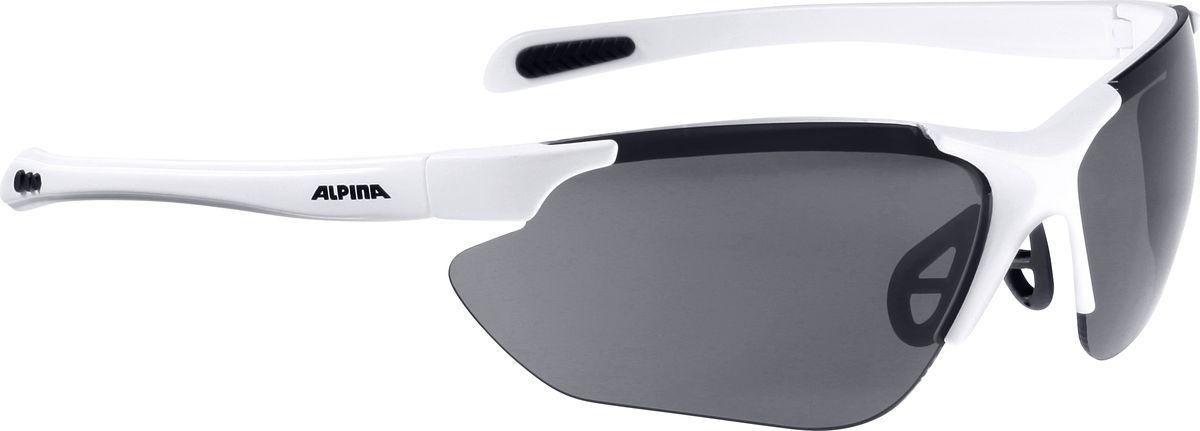 Очки солнцезащитные Alpina Jalix, цвет: белый, черный. 85604108560410Очки солнцезащитные Alpina Jalix почти не имеющие оправы. Это придает модели чрезвычайно спортивный вид. Тем не менее они не только на вид спортивные, на деле они пройдут любые испытания на прочность в спорте. Прорезиненная гибкая перегородка для носа и силиконовые наконечники на душках обеспечивают надежную фиксацию. А высококачественные керамические линзы обеспечивают защиту от ультрафиолетового излучения. Степень защиты: S3/