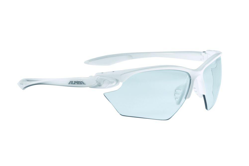 Очки солнцезащитные Alpina Twist Four S VL+, цвет: белый. 85071118507111Очки с линзами, устойчивыми к разбиванию. Отличное предложение по цене и качеству. Обработка от запотевания. Технологии: Optimized airflow, 2 components design, Adjustable nosepad, Fogstop
