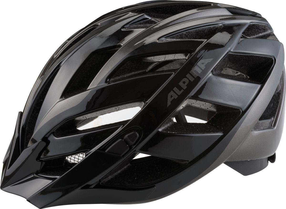 Шлем летний Alpina Panoma Classic, цвет: черный. A9703130. Размер 56/59A9703130Классический универсальный велосипедный шлем с превосходной посадкой. Panoma - верный компаньон в ежедневных поездках до работы и выездов по выходным. 23 вентиляционных отверстия. Безопасность: Оболочка Inmold Производственный процесс заключается в нагревании до высокой температуры внешней поликарбонатной оболочки и запекании ее на EPS-тело шлема под высоким давлением. Этот процесс создает неразрывную связь по всей поверхности между внутренней и внешней оболочками, благодаря этому шлем получается не только очень легким, но и чрезвычайно стабильным. Hi-EPS Внутренняя оболочка выполнена из Hi-EPS (вспениный полистирол). Этот материал состоит из множества микроскопических воздушных камер, которые эффективно поглощают силу удара. Hi-EPS обеспечивает оптимальную защиту в сочетании с экстратонкими стенками. Ceramic Материал объединяет несколько преимуществ: устойчив к ударам и царапинам, содержит ультрафиолетовые стабилизаторы и...
