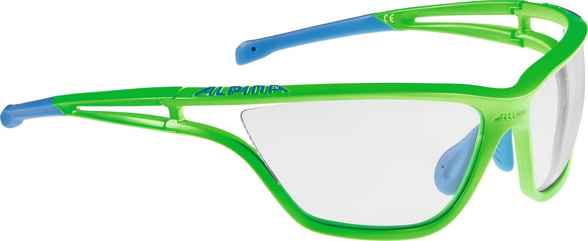 Очки солнцезащитные Alpina Eye-5 VL+, цвет: салатовый, синий. A8532177A8532177Теперь Alpina законодатель моды, которая выпускает очки с широкими оправами. Fogstop - представляет собой покрытие на внутренней стороне линзы, чтобы предотвратить запотевания линз. 2 component design - Сочетание жесткого и мягкого материала Adaptable nosepad - для адаптации к любой форме носа Cold Flex - Непозволяет деформироваться при холодной температуре Optimized airflow - Большие изогнутые линзы-объективы обеспечивают увправление воздушными потоками, ветер не попадает в глаза во время гонок а также предотвращает запотевание.