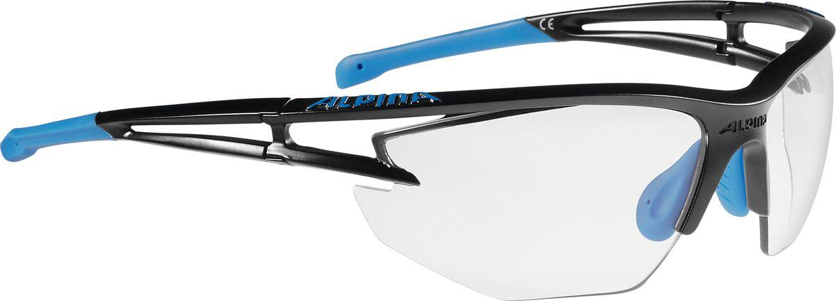 Очки солнцезащитные Alpina Eye-5 Hr Vl+, цвет: синий, черный. A8531135A8531135Теперь Alpina законодатель моды, которая выпускает очки с широкими оправами. Fogstop - представляет собой покрытие на внутренней стороне линзы, чтобы предотвратить запотевания линз. 2 component design - Сочетание жесткого и мягкого материала Adaptable nosepad - для адаптации к любой форме носа Cold Flex - Непозволяет деформироваться при холодной температуре Optimized airflow - Большие изогнутые линзы-объективы обеспечивают увправление воздушными потоками, ветер не попадает в глаза во время гонок а также предотвращает запотевание.