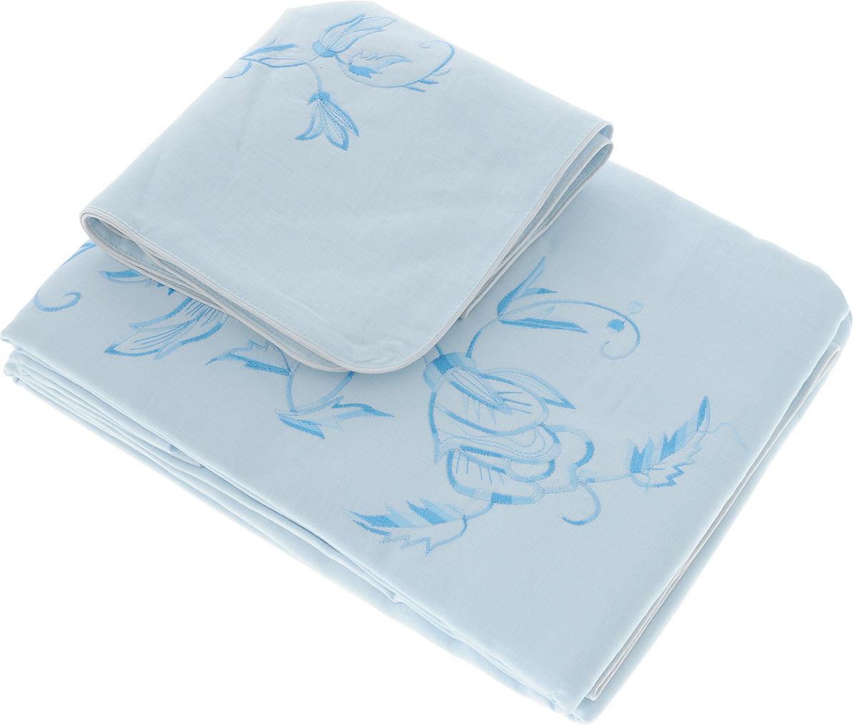 Комплект белья Гаврилов-Ямский Лен, 2-спальный, наволочки 70х70, цвет: голубой, синий5со5939_вышивка голубой,белыйКомплект постельного белья Гаврилов-Ямский Лен выполнен из 100% льна. Комплект состоит из пододеяльника, простыни и двух наволочек. Постельное белье, оформленное вышивкой и кантом, имеет изысканный внешний вид. Лен - поистине уникальный природный материал, экологичнее которого сложно придумать. Постельное белье из льна даст вам ощущение прохлады в жаркую ночь и согреет в холода. Приобретая комплект постельного белья Гаврилов-Ямский Лен, вы можете быть уверены в том, что покупка доставит вам и вашим близким удовольствие и подарит максимальный комфорт.