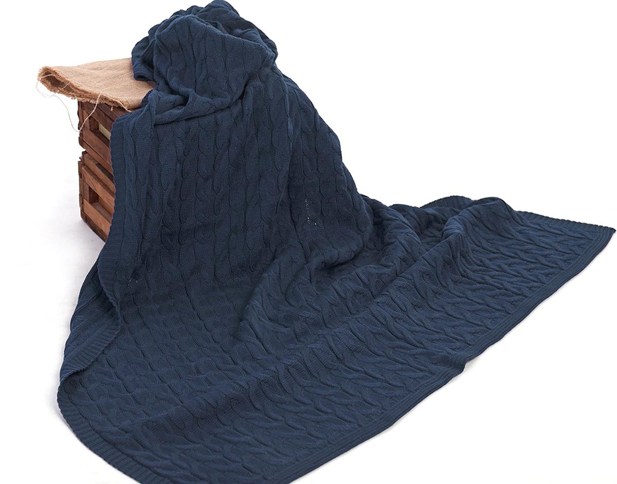 Плед Happychoice, цвет: синий, 130 х 180 см102