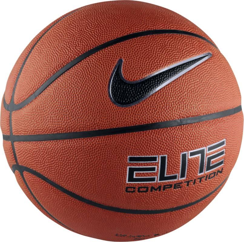 Мяч баскетбольный Nike Elite Competition 8-Panel, цвет: коричневый, черный. Размер 7BB0446-801Мяч Nike Elite Competition 8-Panel из прочной композитной кожи для лучшего сцепления. Бутиловый каркас, изготовленный методом ротационной вулканизации, прекрасно сохраняет форму, а широкие канавки способствуют оптимальному контролю мяча. Восемь панелей.