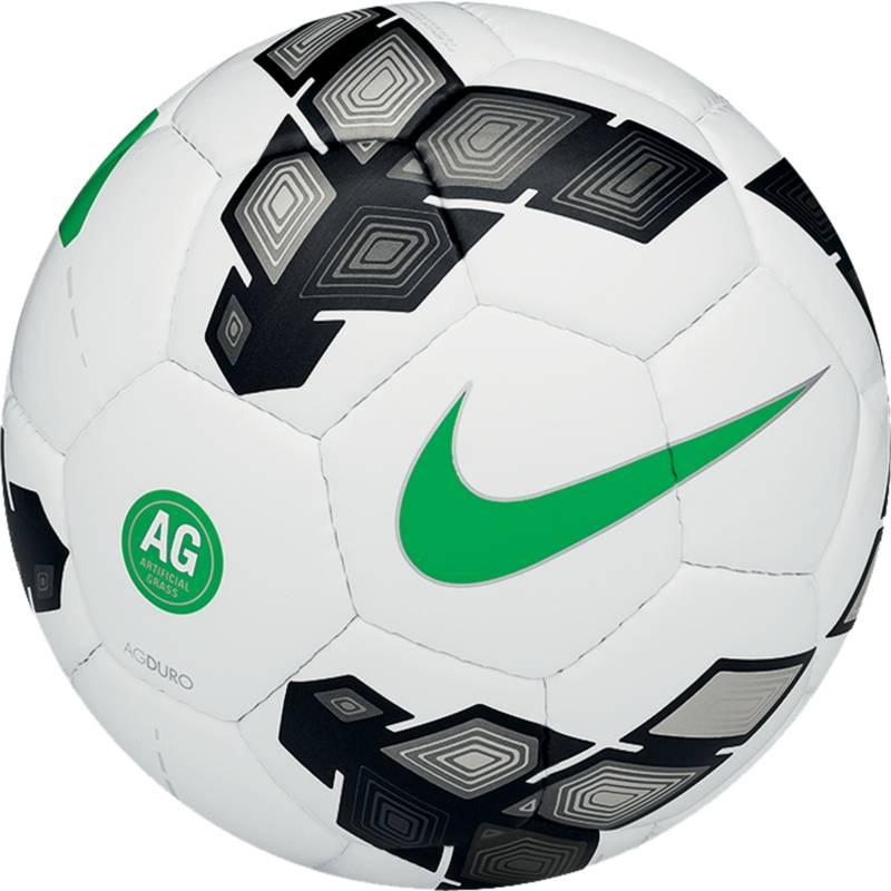 Мяч футбольный Nike AG Duro, цвет: белый, черный, зеленый. Размер 5SC2370-103Мяч футбольный Nike T90 AG Duro создан специально для игры на искусственной траве. Верх выполнен из полиуретана. 32 панели сшиты вручную. Бутиловая камера. Один из лучших вариантов для любительского футбола.