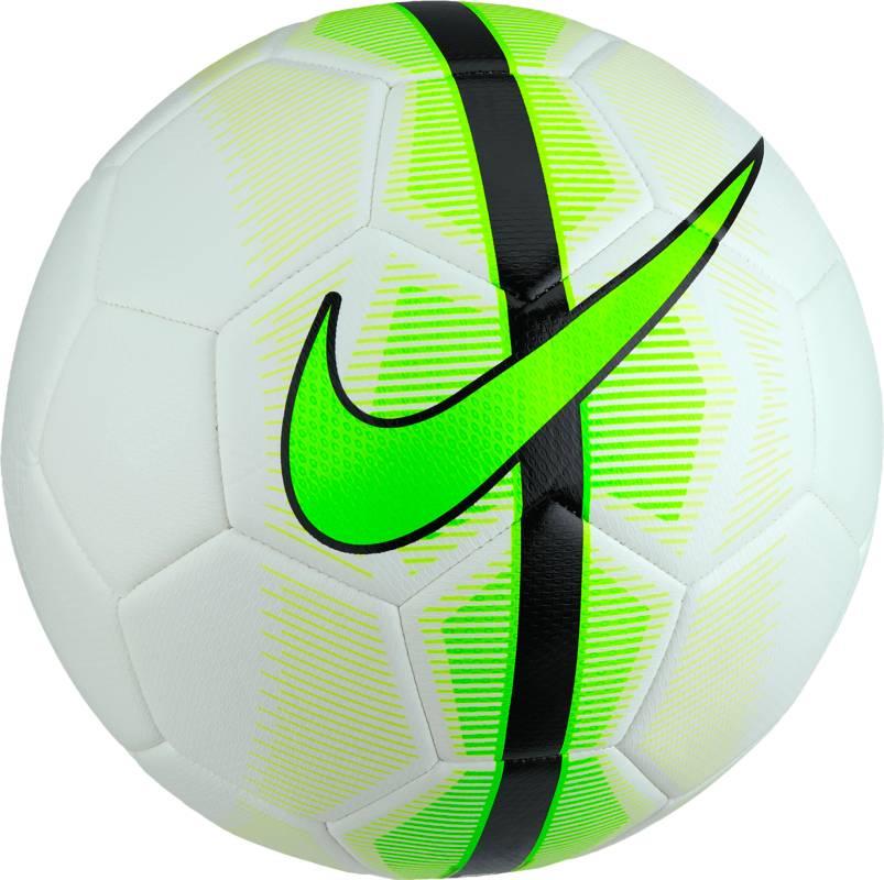 """Мяч футбольный Nike """"Mercurial Veer Football"""", цвет: белый, зеленый, черный. Размер 5 SC3022-101"""