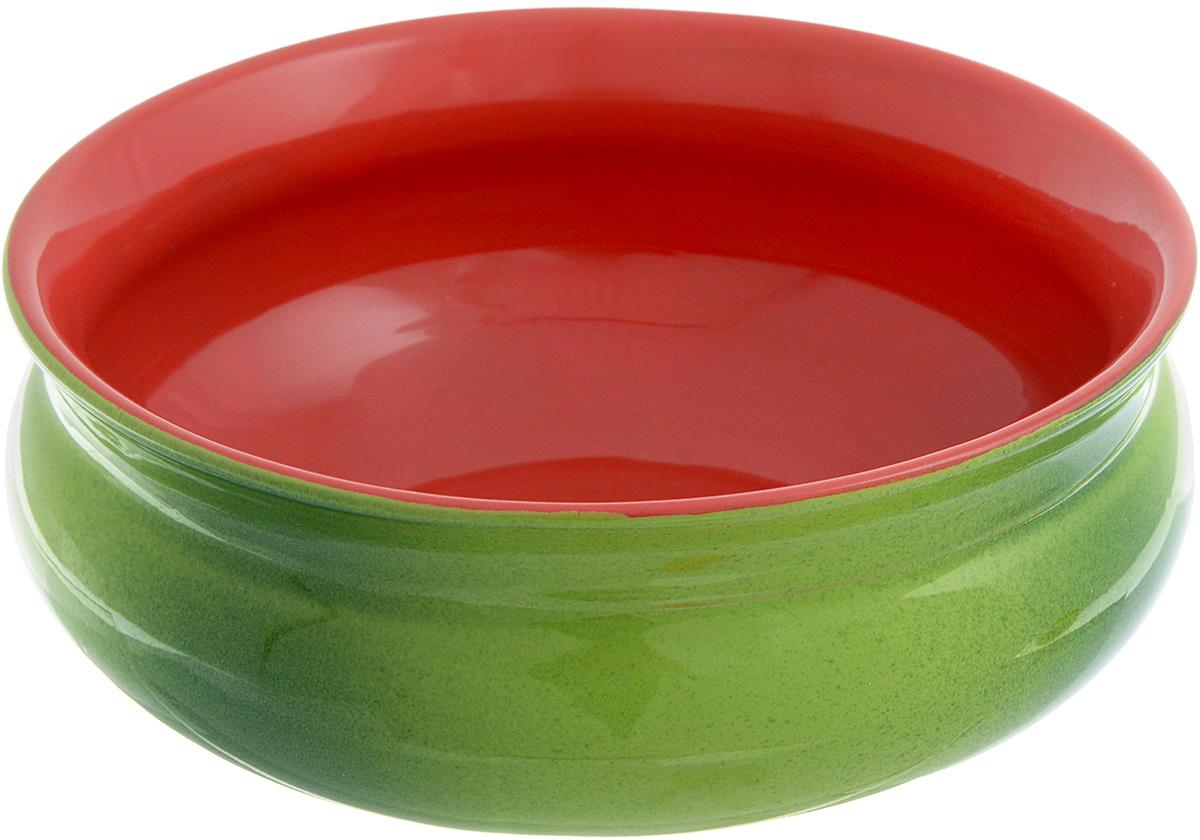 Тарелка глубокая Борисовская керамика Скифская, цвет: зеленый, красный, 800 млРАД14457937_зеленый, красныйГлубокая тарелка Борисовская керамика Скифская выполнена из высококачественной керамики. Изделие сочетает в себе изысканный дизайн с максимальной функциональностью. Она прекрасно впишется в интерьер вашей кухни и станет достойным дополнением к кухонному инвентарю. Тарелка Борисовская керамика Скифская подчеркнет прекрасный вкус хозяйки и станет отличным подарком. Можно использовать в духовке и микроволновой печи. Диаметр тарелки (по верхнему краю): 16 см. Высота стенки: 6,5 см. Объем: 800 мл.
