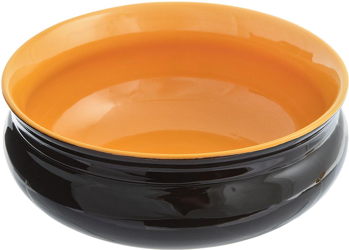 Тарелка глубокая Борисовская керамика Скифская, цвет: черный, светло-коричневый, 800 млРАД14457937_черный, светло-коричневыйГлубокая тарелка Борисовская керамика Скифская выполнена из высококачественной керамики. Изделие сочетает в себе изысканный дизайн с максимальной функциональностью. Она прекрасно впишется в интерьер вашей кухни и станет достойным дополнением к кухонному инвентарю. Тарелка Борисовская керамика Скифская подчеркнет прекрасный вкус хозяйки и станет отличным подарком. Можно использовать в духовке и микроволновой печи. Диаметр тарелки (по верхнему краю): 16 см. Высота стенки: 6,5 см. Объем: 800 мл.