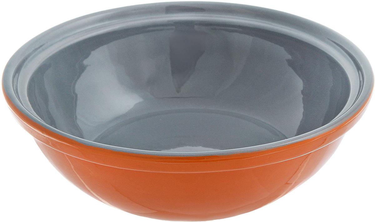 Салатник Борисовская керамика Модерн, цвет: оранжевый, серый, 500 млРАД14456945_оранжевый, серыйСалатник Борисовская керамика Модерн выполнен из высококачественной керамики. Он придется по вкусу каждому и порадует вас и ваших близких. Салатник Борисовская керамика Модерн идеально подойдет для сервировки стола и станет отличным подарком к любому празднику. Можно использовать в духовке и микроволновой печи. Диаметр (по верхнему краю): 17,5 см. Высота: 5,5 см. Объем: 500 мл.