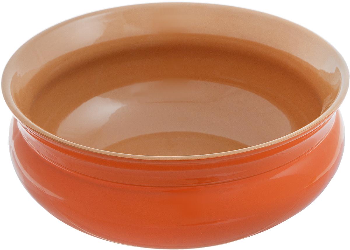 Тарелка глубокая Борисовская керамика Скифская, цвет: оранжевый, коричневый, 800 млРАД14457937_оранжевый, коричневыйГлубокая тарелка Борисовская керамика Скифская выполнена из высококачественной керамики. Изделие сочетает в себе изысканный дизайн с максимальной функциональностью. Она прекрасно впишется в интерьер вашей кухни и станет достойным дополнением к кухонному инвентарю. Тарелка Борисовская керамика Скифская подчеркнет прекрасный вкус хозяйки и станет отличным подарком. Можно использовать в духовке и микроволновой печи. Диаметр тарелки (по верхнему краю): 16 см. Объем: 800 мл.